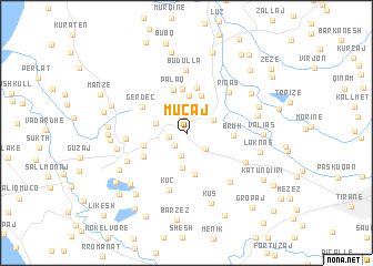 map of Muçaj