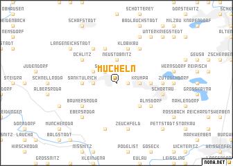 map of Mücheln