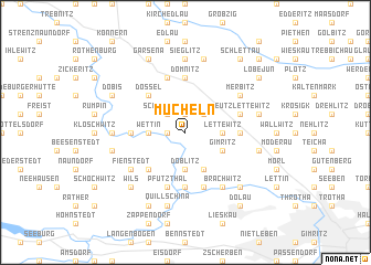 map of Mücheln