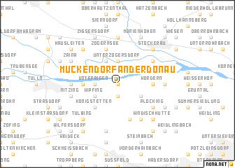 map of Muckendorf an der Donau