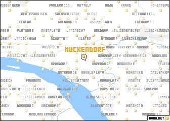 map of Mückendorf