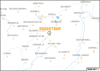 map of Mudgetown