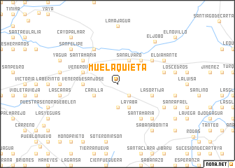 map of Muela Quieta