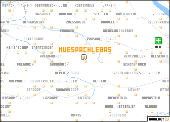 map of Muespach-le-Bas