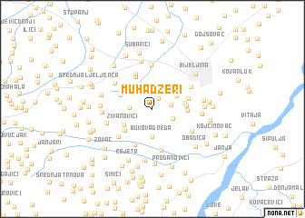 map of Muhadžeri
