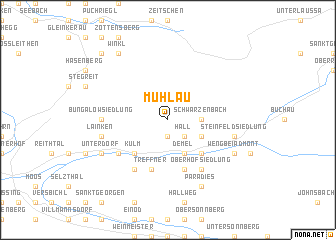 map of Mühlau