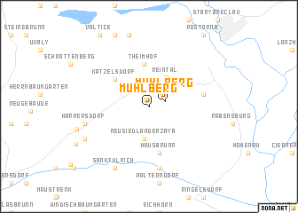 map of Mühlberg