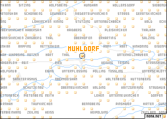 map of Mühldorf
