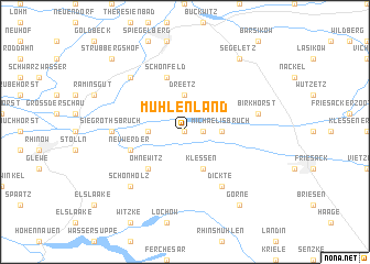 map of Mühlenland