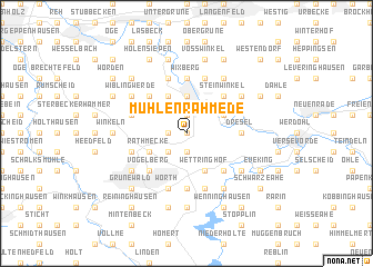 map of Mühlenrahmede
