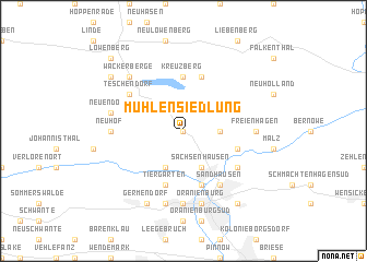 map of Mühlensiedlung