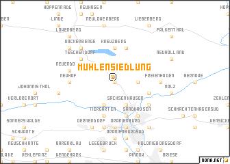 map of Mühlensiedlung