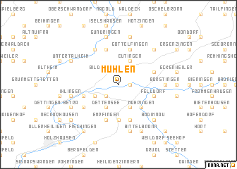 map of Mühlen