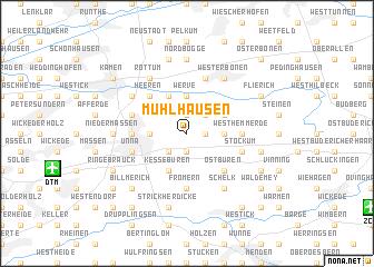 map of Mühlhausen