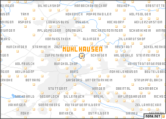 map of Mühlhausen