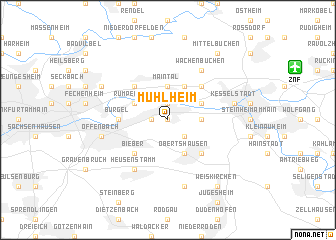 map of Mühlheim