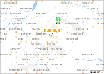 map of Mührich