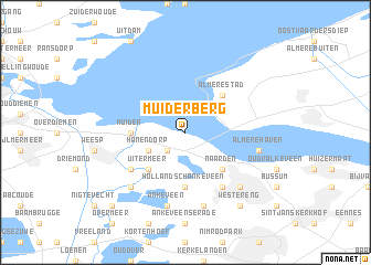 map of Muiderberg