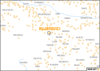 map of Mujanovići