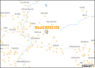 map of Mujića Rečine