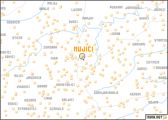 map of Mujići