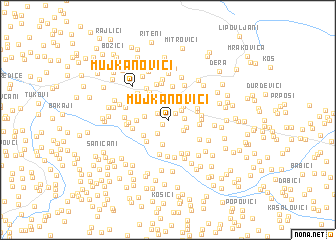 map of Mujkanovići