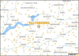 map of Mujtabāābād