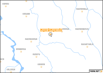 map of Muka-Mukini