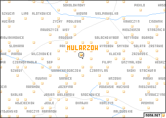 map of Mularzów