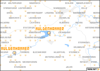 map of Muldenhammer