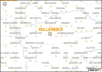 map of Müllenbach