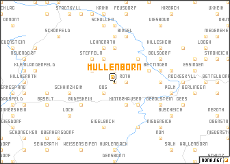 map of Müllenborn