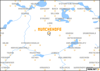 map of Münchehofe