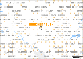 map of Münchenreuth