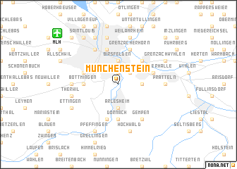 map of Münchenstein