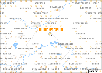 map of Münchsgrün