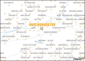 map of Münchsmünster