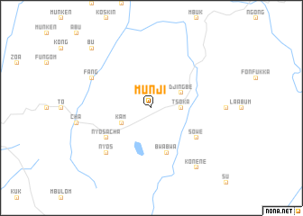 map of Munji