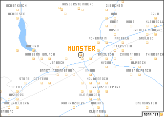 map of Münster