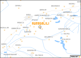 map of Muradalılı