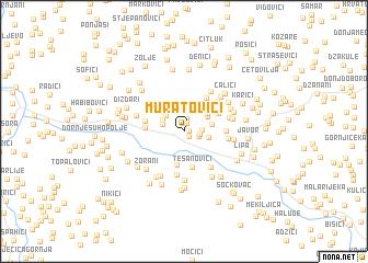 map of Muratovići