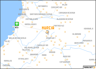 map of Murcia