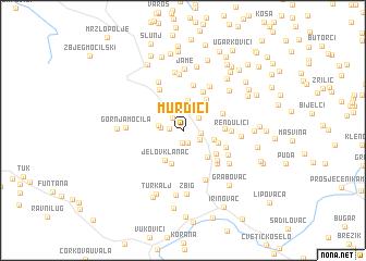map of Murdići