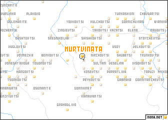 map of Mŭrtvinata