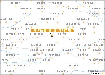 map of Murzynowo Kościelne