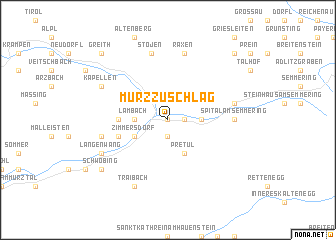 map of Mürzzuschlag