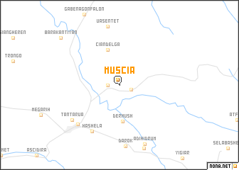 map of Muscia