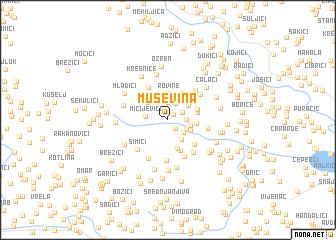 map of Muševina