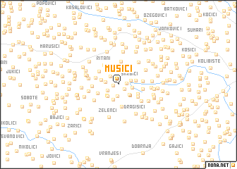 map of Musići