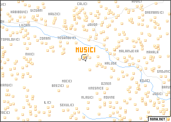 map of Mušici